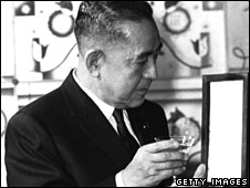 Former Japanese Prime Minister Eisaku Sato in about 1967