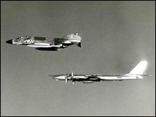 British fighter plane and Soviet bomber