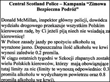 A section of the Polish warning