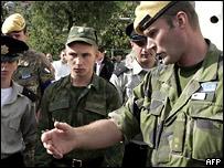 Наблюдатели ОБСЕ в зоне грузинско-южноосетинского конфликта