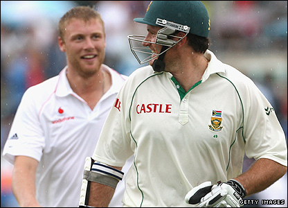 Andrew Flintoff and Graeme Smith