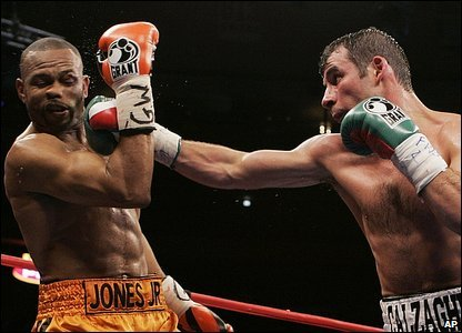 Roy Jones and Joe Calzaghe