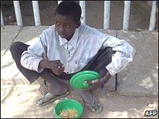 Nigerian beggar child