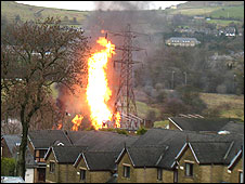 Fire at Rawtenstall