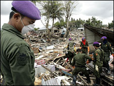 Tsunami relief work in Banda Aceh, Indonesia