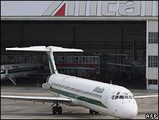 Alitalia jet (file pic)