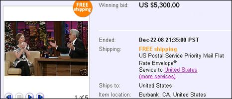 Scarlett Johansson's eBay listing
