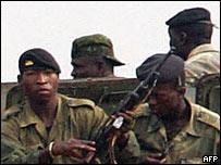 Soldados de Guinea. Foto de Archivo