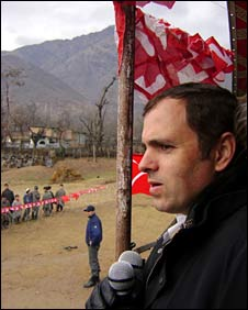 Omar Abdullah addresses rally
