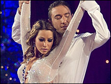 Rachel Stevens and her dance partner Vincent Simone