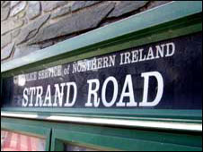PSNI station Strand Road Derry