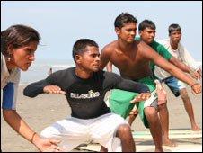 Surfers in Bangladesh