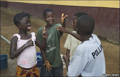 Children in Breville, Liberia
