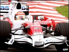 Timo Glock drives a Toyota