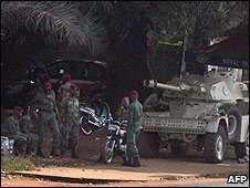 Guinean army in Conakry (file image)