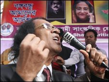 Awami League supporter in Dhaka