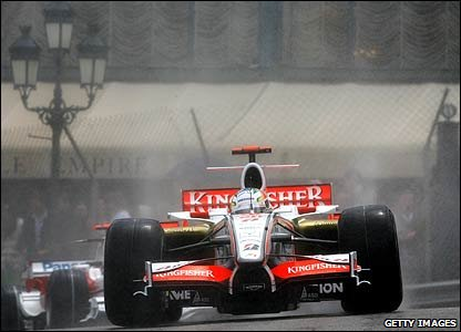 Adrian Sutil in the 2008 Monaco Grand Prix