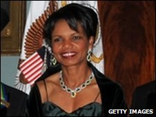 Ms Rice at the annual Kennedy Center Honors in Washington, DC 6/12/2008