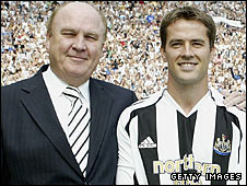 Freddy Shepherd and Michael Owen