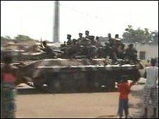 Street scene in Conakry, Guinea on 23 December 2008