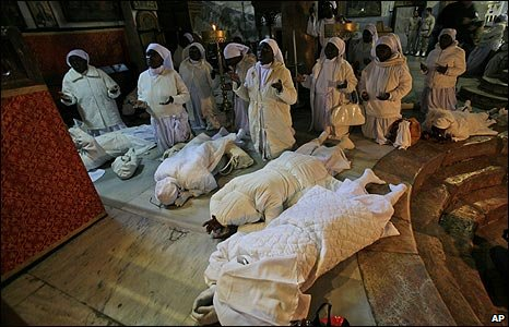 Nigerian pilgrims in Bethlehem