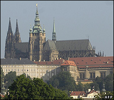 Prague's Hradcany Castle and Saint Guy Cathedral
