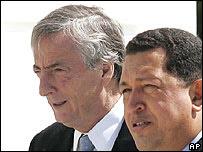 Néstor Kirchner y Hugo Chávez