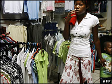 A woman shopping in Harare