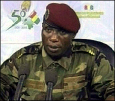 Capt Moussa Dadis Camara (24 December 2008)