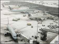 Vancouver airport in Richmond, British Colombia, Canada on 24/12/08