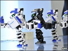 Robots made by Japanese toy giant Tomy