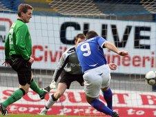 Glenn Ferguson scores Linfield's first goal