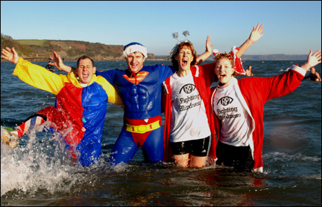 Many of the swimmers donned fancy dress (Pic: Gareth Davies Photography)
