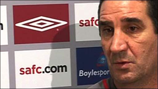 Sunderland caretaker boss Ricky Sbragia