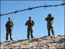 Indian troops on border in Rajasthan