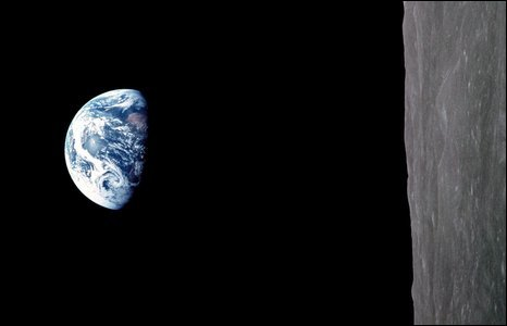 Earth rise, photographed by the Apollo 8 crew