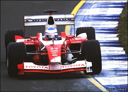 Mika Salo in action at the 2002 Australian Grand Prix