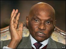 Senegalese President Abdoulaye Wade. Photo: 26 December 2008
