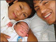 Virgen Maria, Adolfo and baby Jesus Emanuel (photo: National Perinatal Institute)