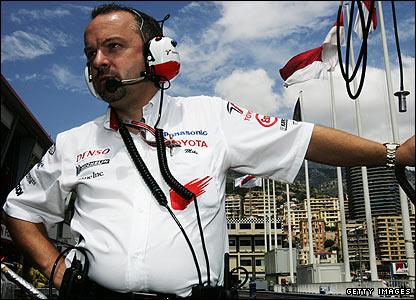 Mike Gascoyne in Monte Carlo