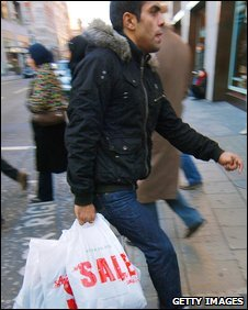 A shopper in Oxford Street