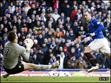 Artur Boruc saves from Kris Boyd