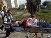 Раненый израильтянин