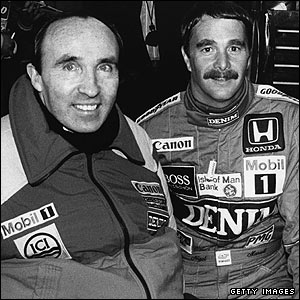 Frank Williams and Nigel Mansell in 1986