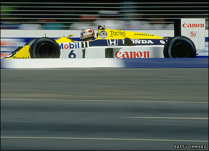 Nelson Piquet drives for Williams during the 1987 season