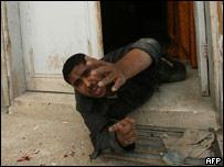 Раненый полицейский в секторе Газа