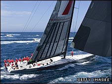 Wild Oats XI claimed line honours in Tasmania