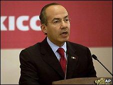 Mexican President Felipe Calderon - 8/10/2008