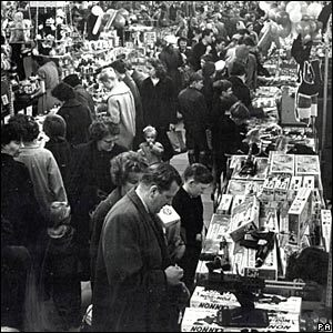 January sales at Woolworths' Leeds store in the 1950s