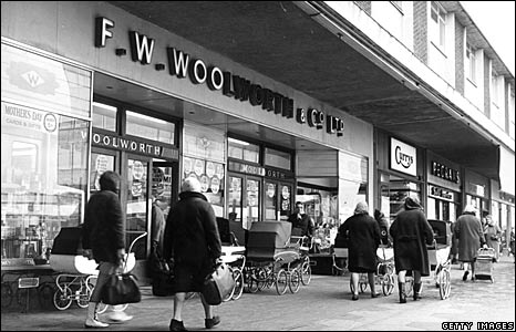 Woolworths' Kirkby store in 1967